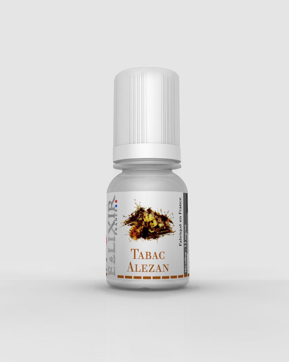 fiole de e-liquide elixir parfum tabac alezan