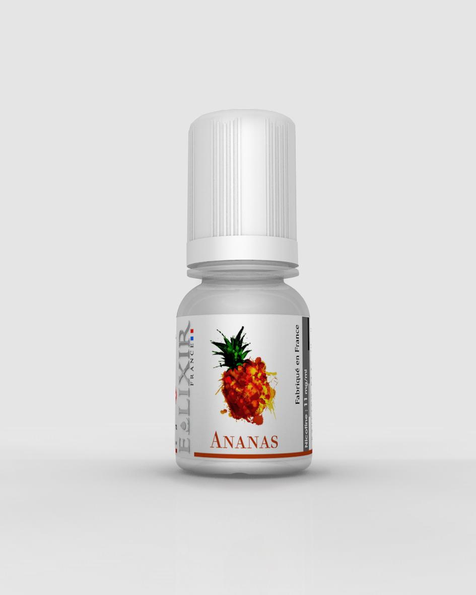 fiole de e-liquide elixir parfum ananas