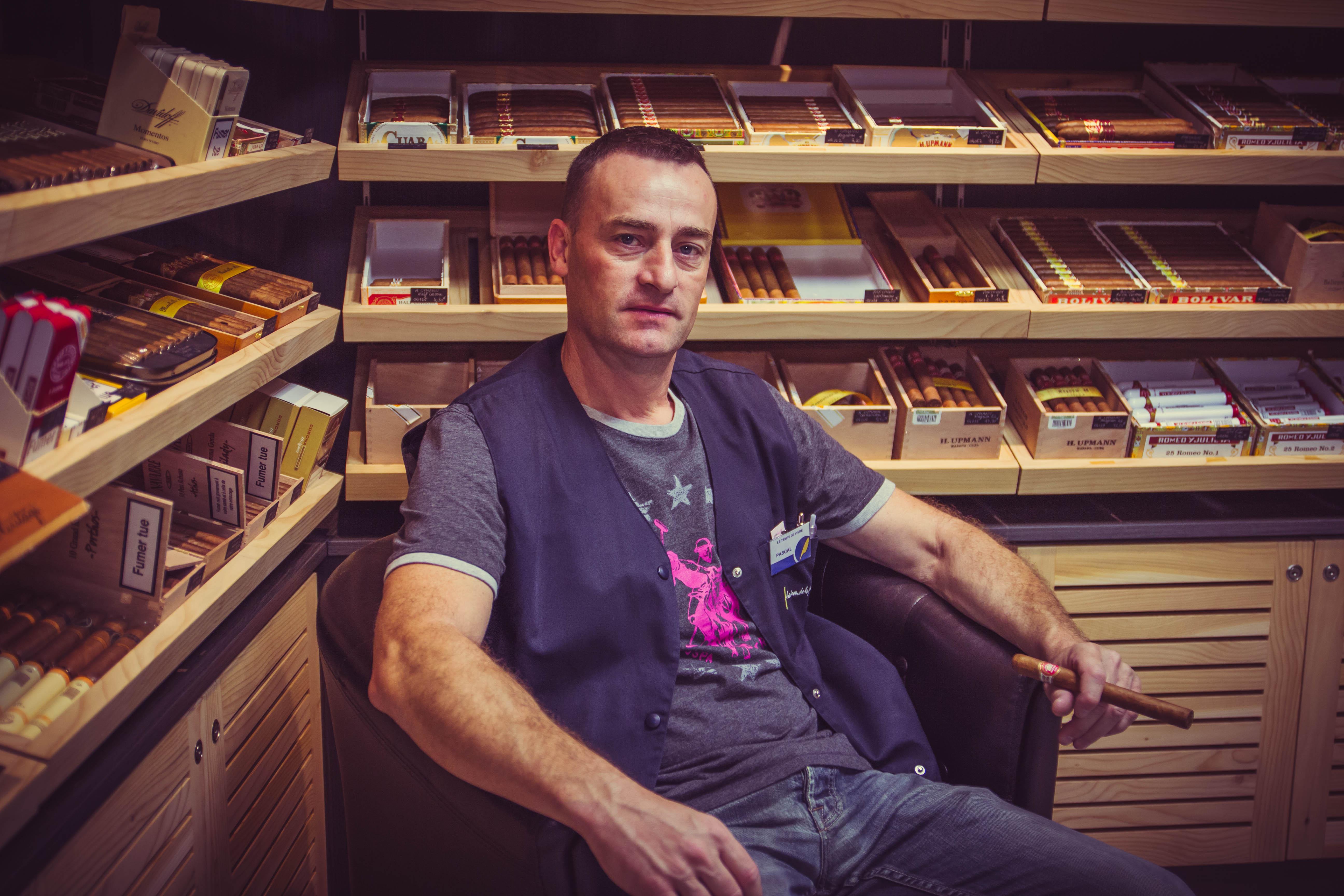 Pascal conseiller de la cave à cigares